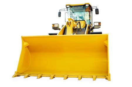 front loader: cargadora de ruedas aisladas sobre fondo blanco