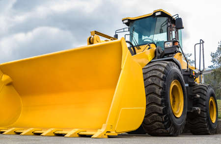 wheel loader: wheel loader  Stock Photo