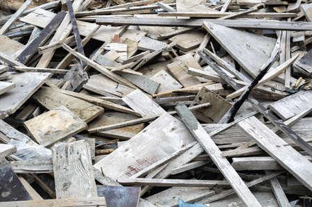 wood products: discarica scarti e prodotti in legno rifiuti Archivio Fotografico