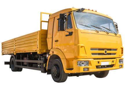 Dump truck on white background