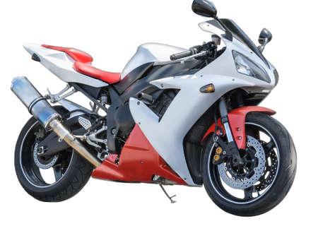 motorizado: Motocicleta aisladas sobre fondo blanco