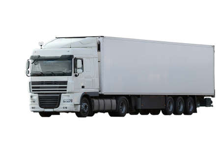cargo truck isolated on white background  photo