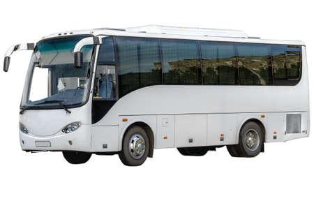 Passagier-Bus isoliert auf weißem Hintergrund Standard-Bild - 30110808