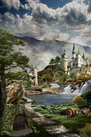 fairy palace in the realm of dreams