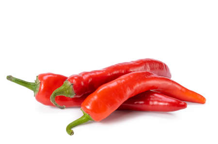 red hot pepper on white background with soft shadow
