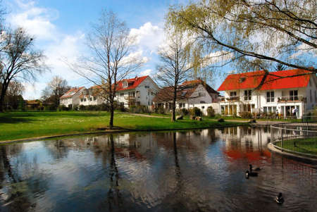 Beautiful park in small town Kornwestheim, in south Germany. photo
