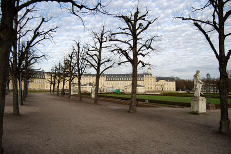 karlsruhe: Karlsruhe palace and park in the winter