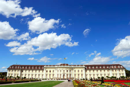 Road to royal palace and royal garden. Baden-Wurttemberg, Ludwigsburg, South Germany photo