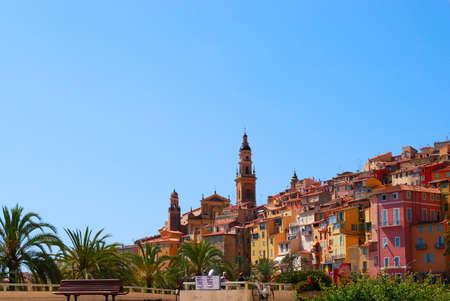 Ventimiglia town, mediterranean sea coast, northern Italy photo