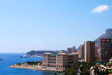 monte: Monaco and mediterranean sea panoramic view