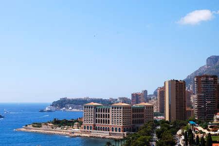 monte carlo: Monaco and mediterranean sea panoramic view