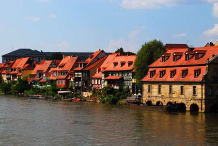 Bamberg pier and embankment, Bavaria, Germany Stock Photo - 6298016