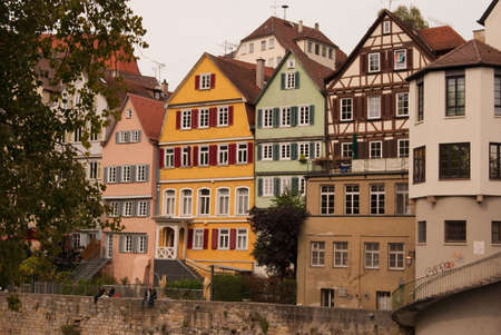 baden wurttemberg: Tubingen embankment and medieval buildings, Baden Wurttemberg, Germany