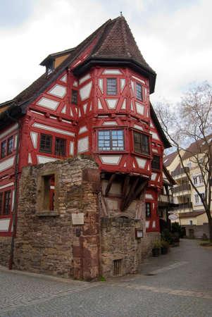 stuttgart: Oldest house in Stuttgart - Bad Cannstadt old town center, Baden-Wurttemberg, Germany