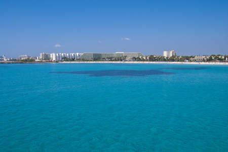 Mediterranean Sea and Sa Coma beach, Majorca island, Spain photo