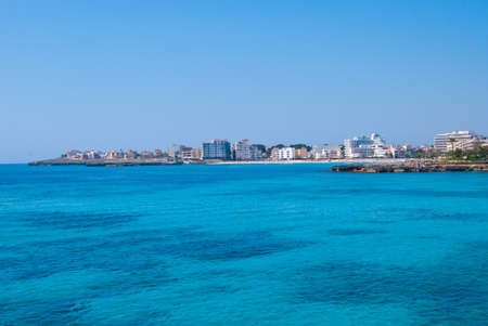 coma: Cape near Sa Coma resort and Mediterranean Sea, Majorca island Stock Photo