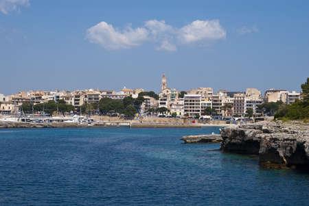 cristo: Clouds over Porto Cristo resort town, Majorca island, Spain