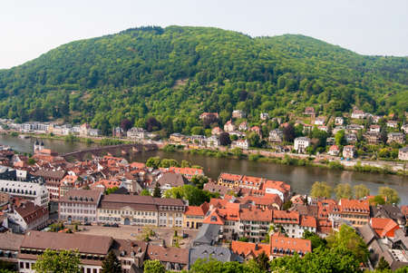 Panoramic view of Heidelberg old town, Baden Wuerttemberg, Germany photo