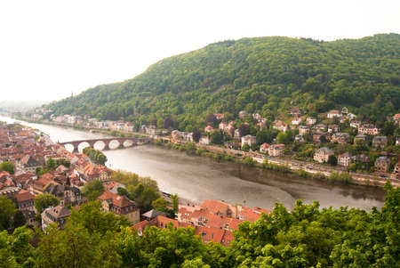 Heidelberg old bridge and the cityscape, Baden Wuerttemberg, Germany photo