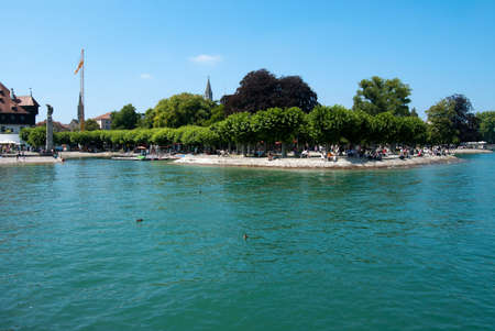 Coast of Boden Lake and tourists in Constance, Germany-Switzerland Stock Photo - 13671874