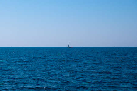 Yacht in an open Mediterranean Sea Stock Photo - 13668524