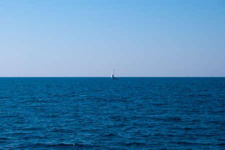 Yacht in an open Mediterranean Sea Stock Photo - 13668524