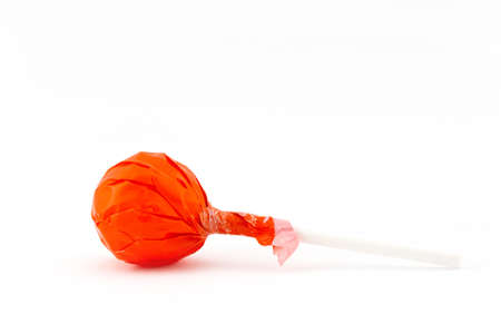 Orange Lollipop Stock Photo