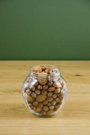 Glass jar of nuts