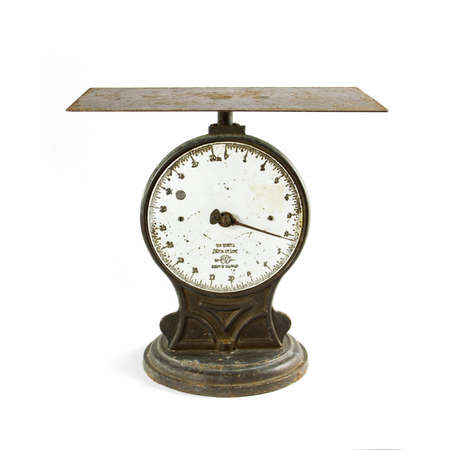 Antique scale on white
