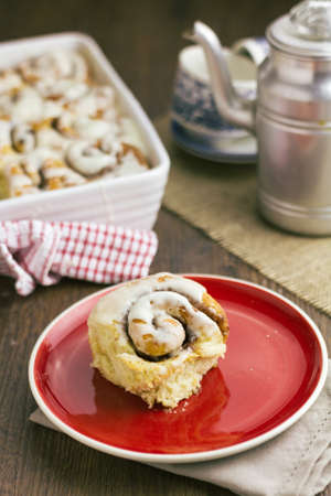 Part of a series showing the preparation of cinnamon rolls