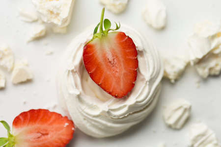 Series on Eton Mess, a traditional English dessert of strawberries, meringue and cream