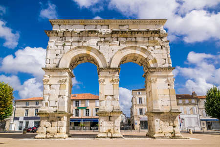 Arch of Germanicus in Saintes, historic monument, Charente-Maritime, Nouvelle-Aquitaine, France.