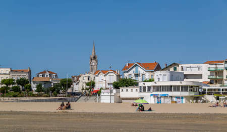 Saint-Georges-de-Didonne, the town, the beaches, its port and its lighthouse, Nouvelle-Aquitaine,