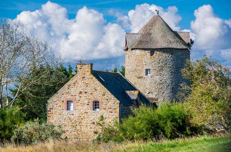 Moulin de Cherrueix, Ille-et-Vilaine, Brittany, France.