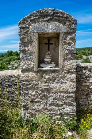 Saint-Saturnin-lès-Apt, medieval hilltop village in the Luberon in Provence-Alpes-Côte-d'Azur.