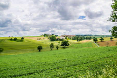Landscape of the Gers countryside in France. Banque d'images