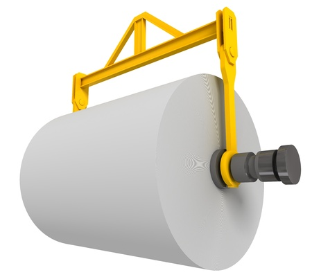 Giant roll of paper, 3d render isolated on white  photo