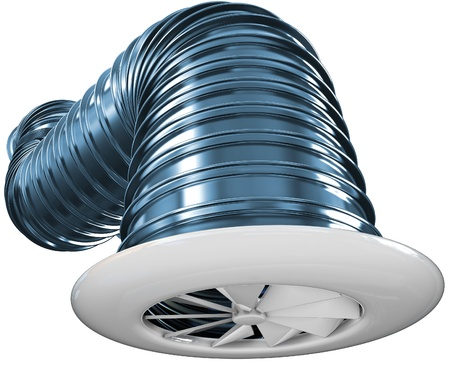 air duct: 3d render Ventilation pipes of an air condition