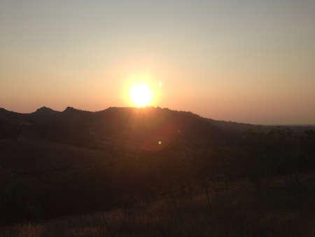 abbazia: Sunset in the Mountain  Stock Photo