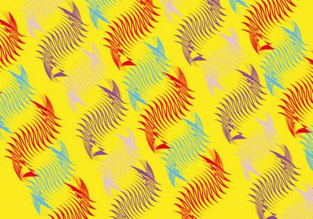 textil printing of sea horses Vector
