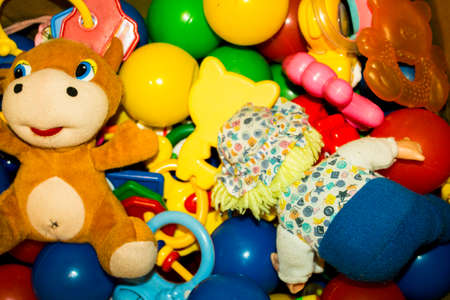 for children toys: many different brightly colored toys for children