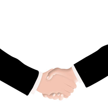 conclusion: Business business people and conclusion of contract
