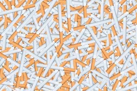 injurious: lot of cigarettes with filter
