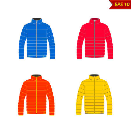 winter jacket vector illustration on white background Фото со стока - 96279395