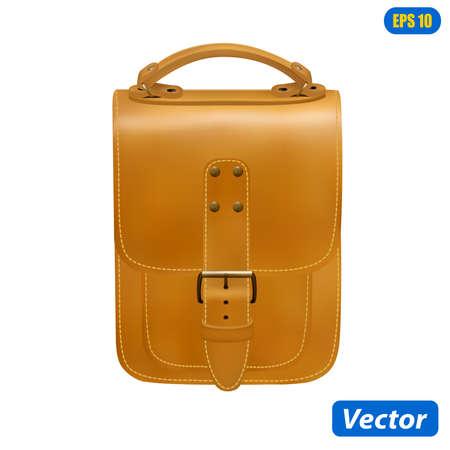 photorealistic handbag isolated on white background vector illustration Stock Illustratie