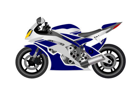 Motorcycle sports on white background. Vector illustration. Illustration