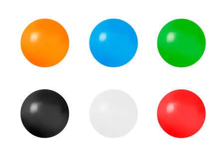 Three-dimensional ball on a white background. Surround the area. Illustration