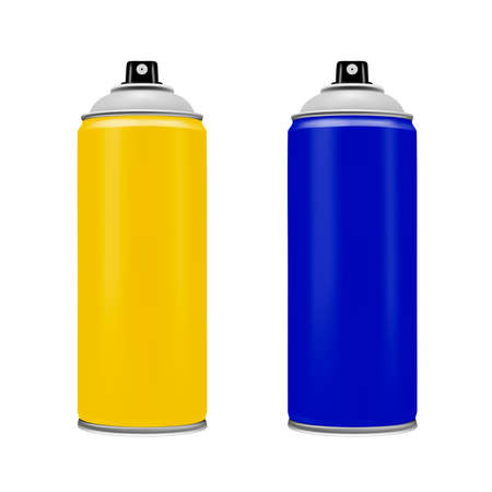 Spray paint on a white background. Vector illustration.