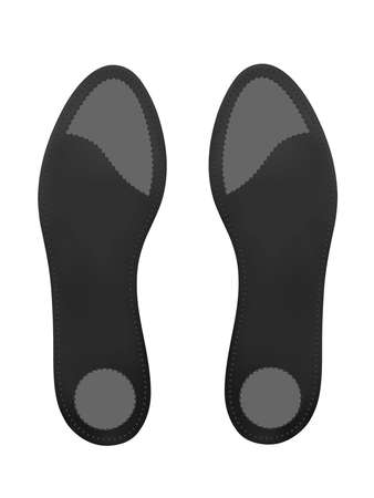 Orthotic insoles on a white background. Vector illustration.