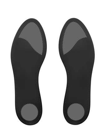 Semelles orthopédiques sur fond blanc. Illustration vectorielle.